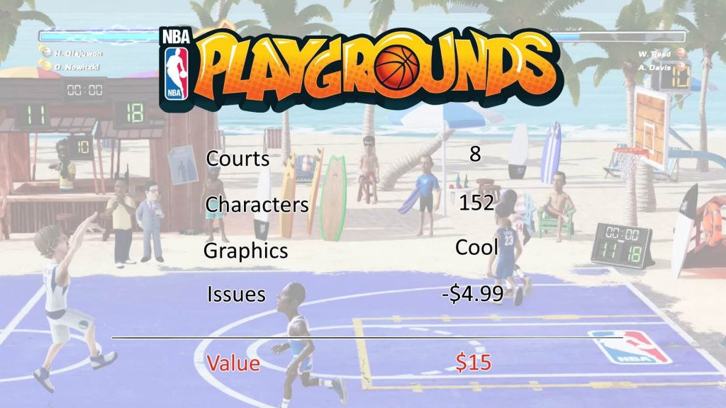 NBA Playgrounds value background image